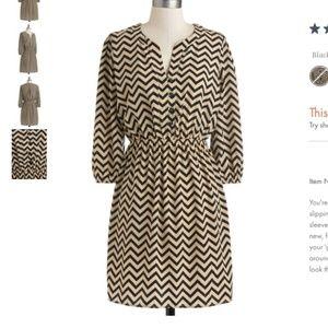 Modcloth Trinity Zig Zag Dress Plus Size